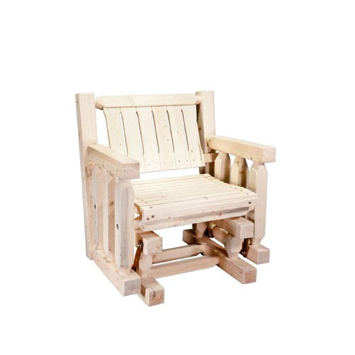 Montana Woodworks    Homestead Unfinished Single Seat Glider