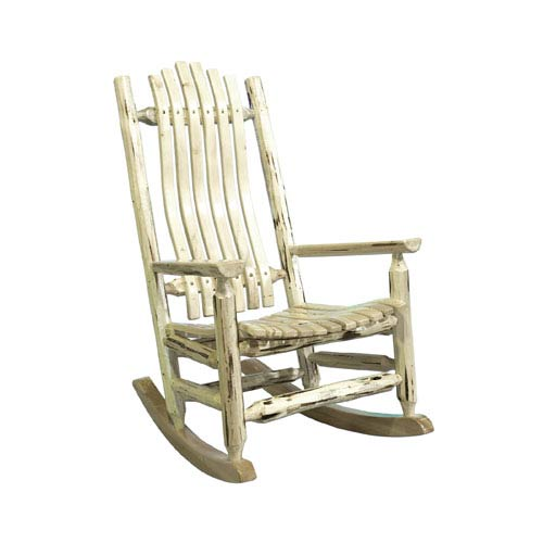 Beau Montana Woodworks Montana Lacquered Log Rocker Adult