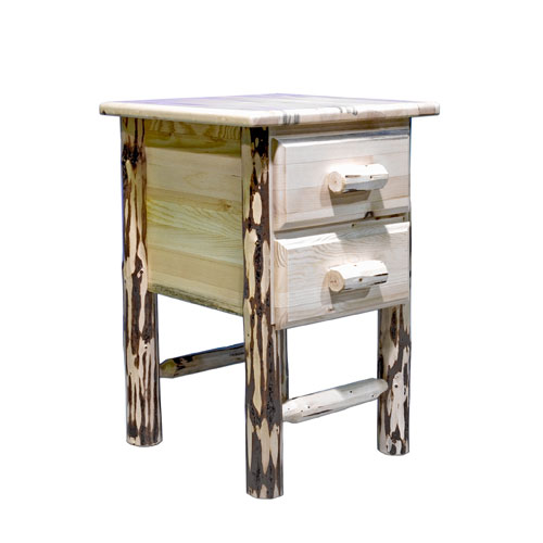 Montana Woodworks    Montana Unfinished Nightstand w/ Two Drawers