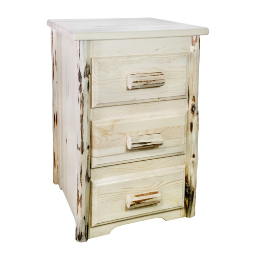 Montana Woodworks    Montana Unfinished Three Drawer Nightstand