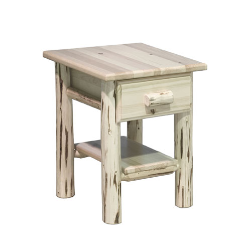 Montana Woodworks    Montana Lacquered Nightstand w/ Drawer and Shelf