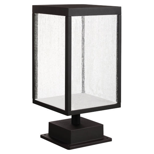 Reveal Black 7-Inch Led Outdoor Pier Mount