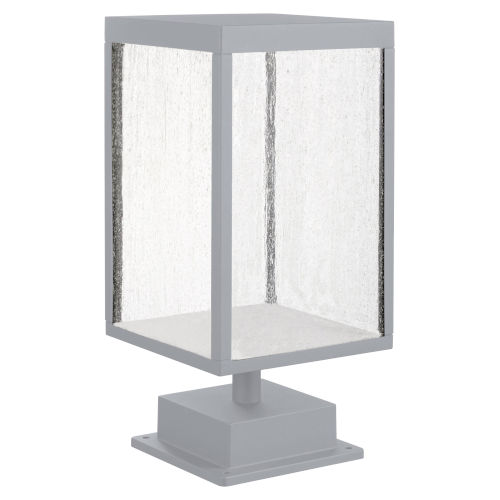 Reveal Satin Gray 7-Inch Led Outdoor Pier Mount