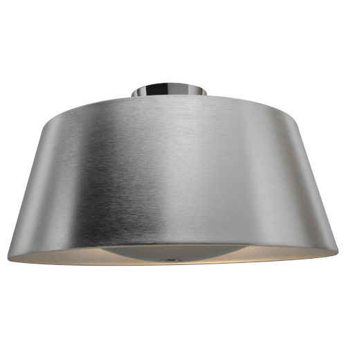 Soho Brushed Silver Three-Light Led Flush Mount