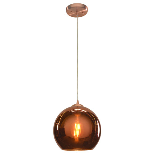 Glow 10-Inch Brushed Copper One-Light LED Pendant