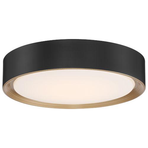 Malaga Matte Black LED Flush Mount