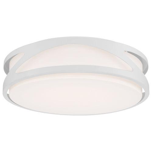 Lucia White 14-Inch LED Flush Mount