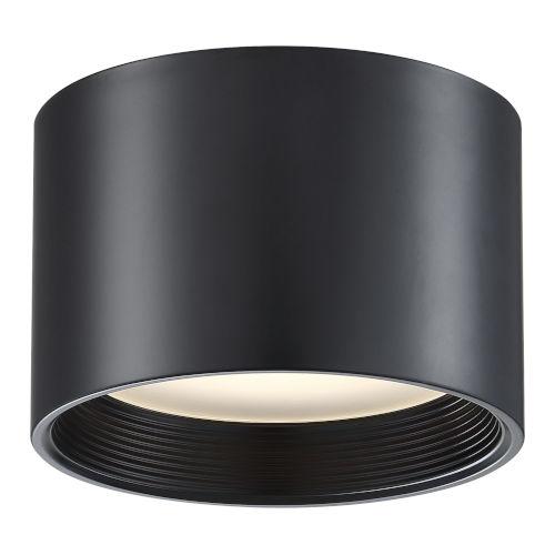 Reel Black 8-Inch Led Flush Mount