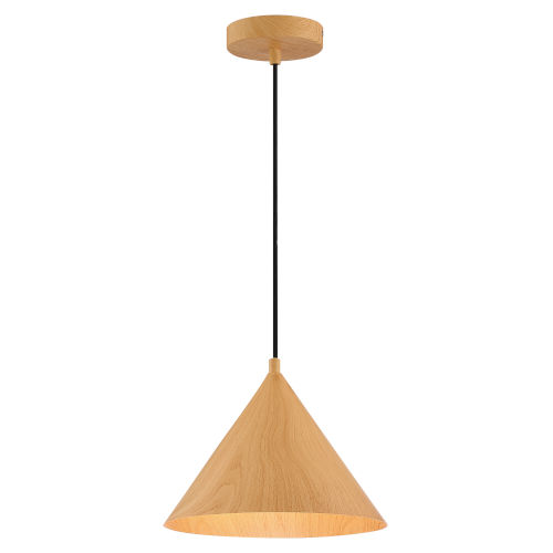 Timber Wood Grain 11-Inch Led Pendant