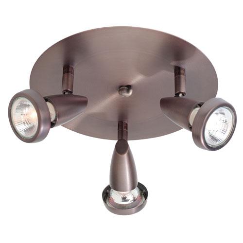 Access Lighting Mirage Bronze Three-Light LED Semi-Flush Spotlight