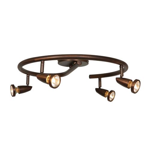Mirage Bronze Four-Light LED Semi-Flush Spotlight