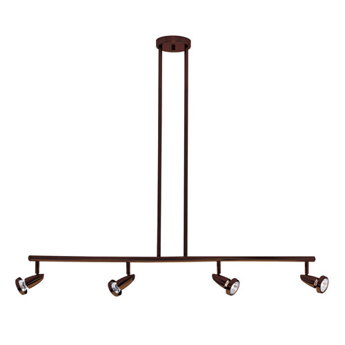 Mirage Bronze Four-Light LED Track Light