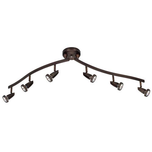 Mirage Bronze Six-Light LED Track Light