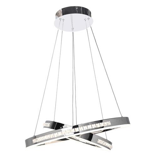 Affluence 26-Inch Chrome One-Light LED Pendant
