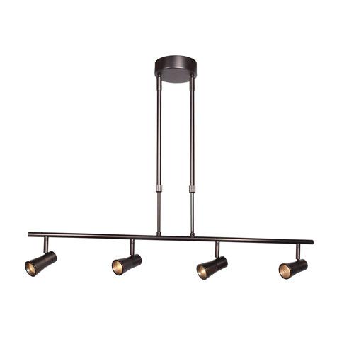Sleek 33-Inch Bronze Four-Light LED Track Light