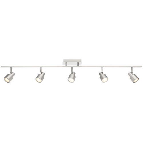 Lincoln Brushed Steel Five-Light LED Track Light
