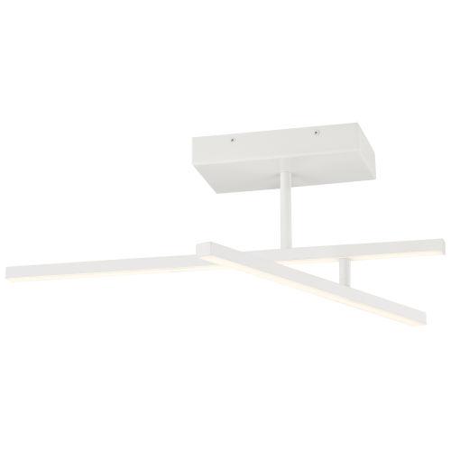 Duo Matte White LED Adjustable Semi-Flush Mount
