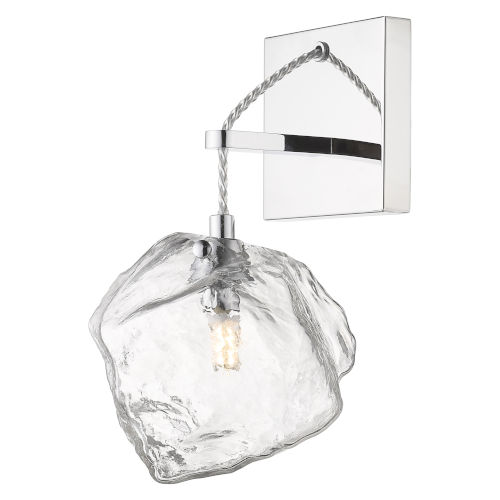 Boulder Mirrored Stainless Steel Led Wall Sconce