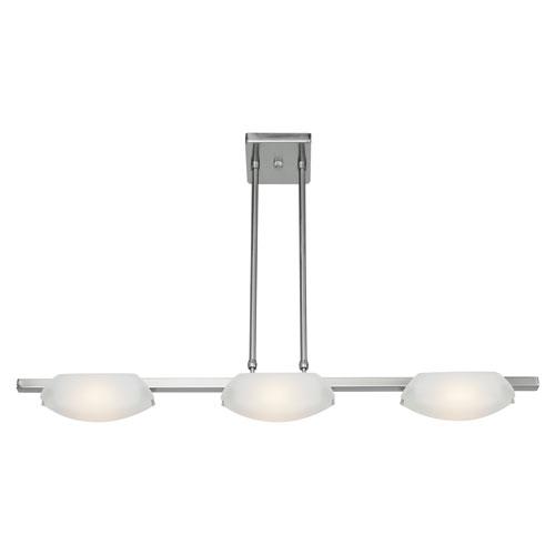 Nido Matte Chrome Three-Light LED Pendant
