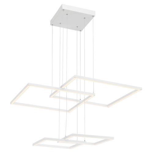 Squared White Led Pendant
