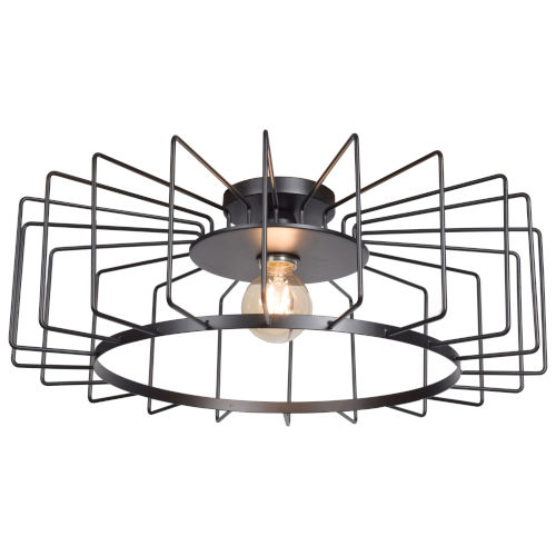 Wired Black 23-Inch LED Flush Mount