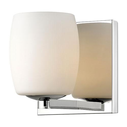 Serenity Mirrored Stainless Steel 1-Light  Bath Vanity