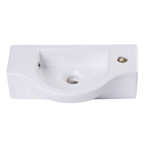 Small White Wall Mounted Ceramic Bathroom Sink Basin
