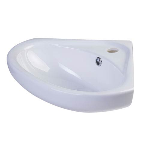Alfi Brand 18-inch White Corner Porcelain Wall Mounted Bath Sink