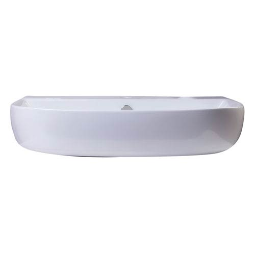 28-inch White D-Bowl Porcelain Wall Mounted Bath Sink