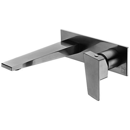 Brushed Nickel Wall Mounted Bathroom Faucet