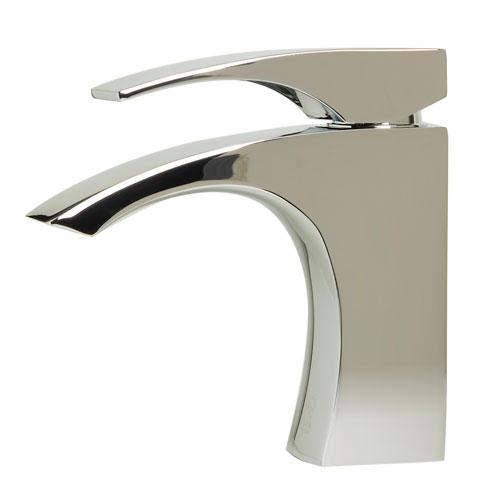 Polished Chrome Single Lever Bathroom Faucet