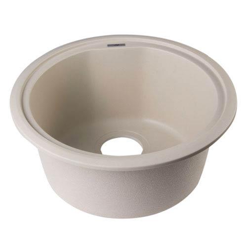 Biscuit 17-inch Undermount Round Granite Composite Kitchen Prep Sink