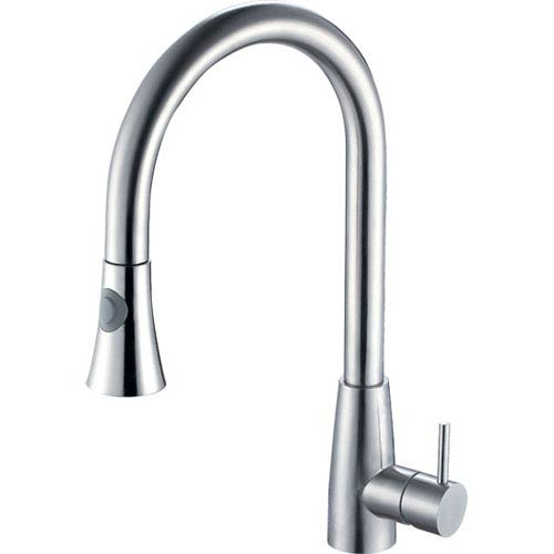 Solid Stainless Steel Pull Down Single Hole Kitchen Faucet