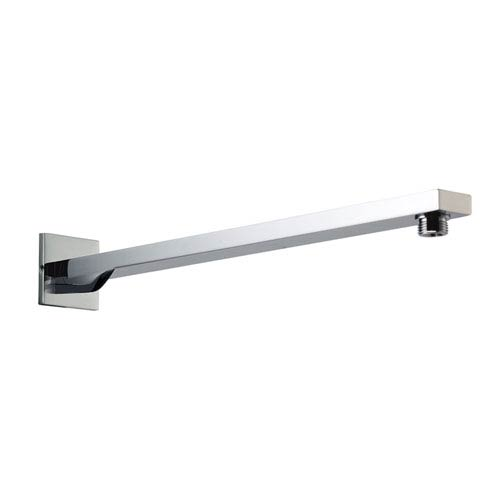 Polished Chrome Square Wall Mounted 20-inch Shower Arm
