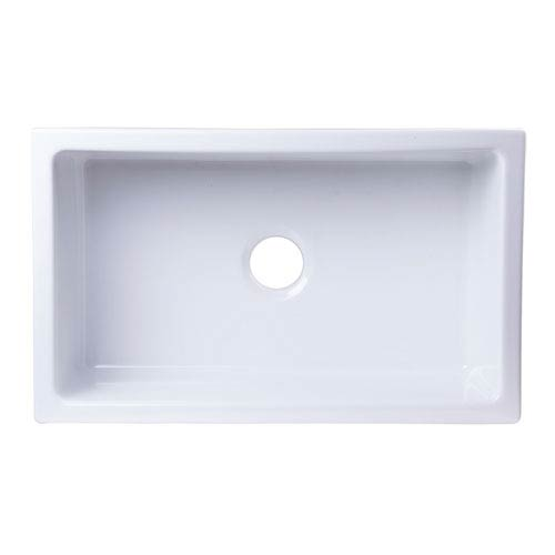 30-inch x 18-inch Undermount White Fireclay Kitchen Sink