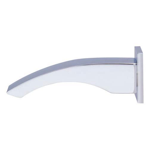 Alfi Brand Polished Chrome Curved Wall mounted Tub Filler Bathroom Spout