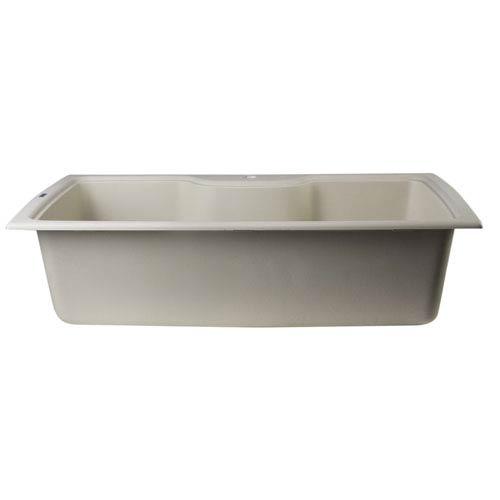 Alfi Brand Biscuit 35-inch Drop-In Single Bowl Granite Composite Kitchen Sink