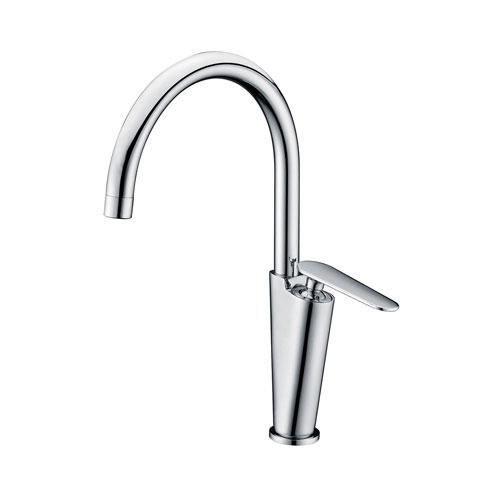 Alfi Brand Polished Chrome Gooseneck Single Hole Bathroom Faucet
