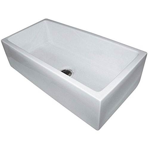 36-inch Biscuit Smooth Apron Single Bowl Fireclay Farm Sink