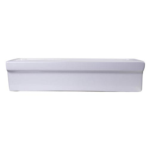 36-inch White Above Mount Porcelain Bath Trough Sink