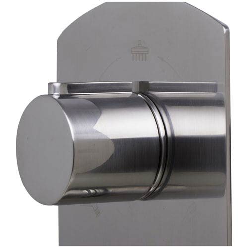 Brushed Nickel Concealed 3-Way Thermostatic Valve Shower Mixer Round Knobs