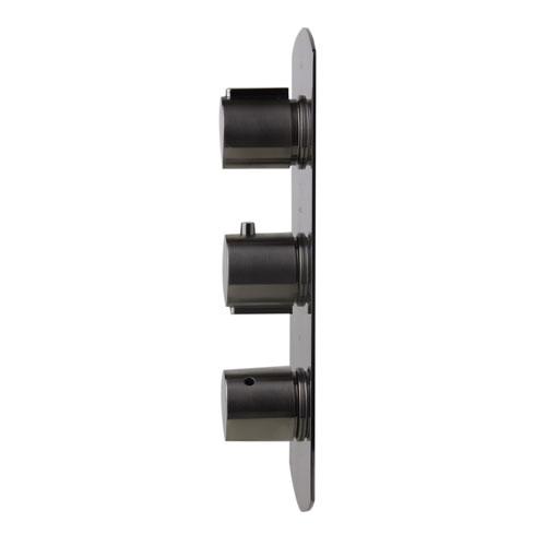 Alfi Brand Brushed Nickel Concealed 4-Way Thermostatic Valve Shower Mixer with Round Knobs