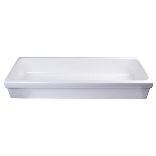 48-inch White Above Mount Porcelain Bath Trough Sink