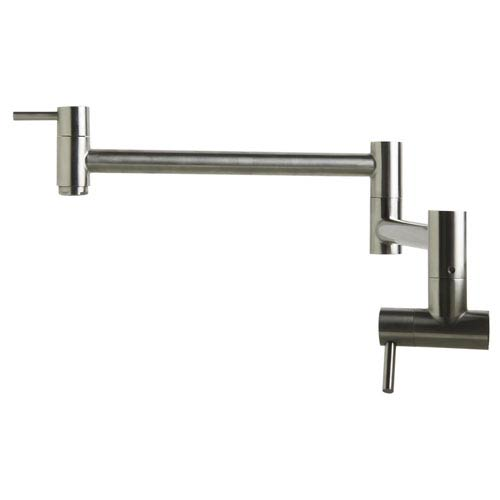 Brushed Stainless Steel Retractable Pot Filler Faucet