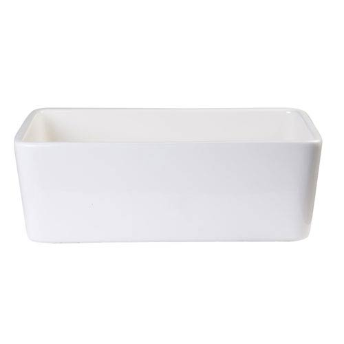 Biscuit 23-inch Smooth Apron  Fireclay Single Bowl Farmhouse Kitchen Sink