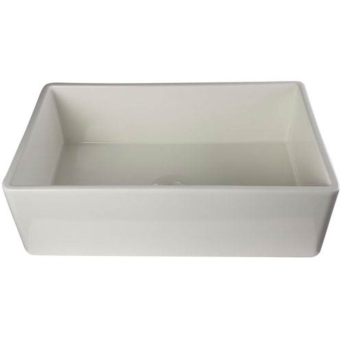 33-inch Biscuit Smooth Apron Single Bowl Fireclay Farm Sink