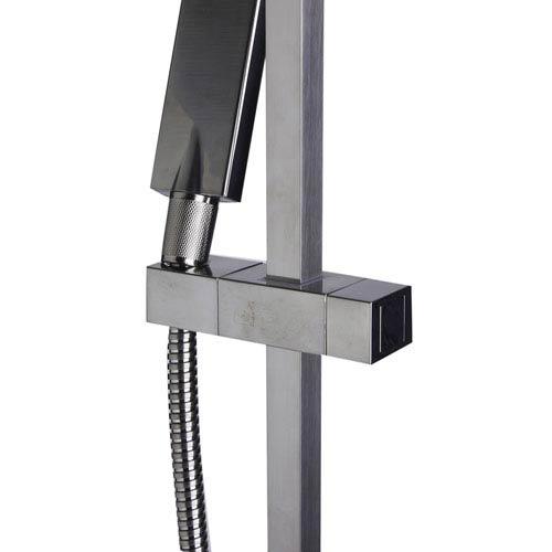 Alfi Brand Brushed Nickel Sliding Rail Hand Held Shower Head Set with Hose