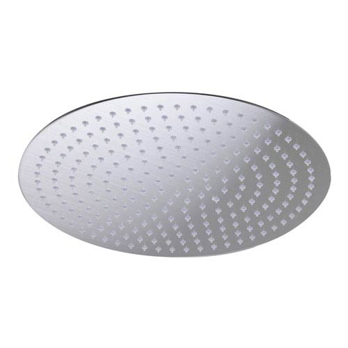 Solid Brushed Stainless Steel 16-inch Round Ultra Thin Rain Shower Head