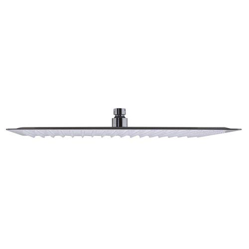 Solid Brushed Stainless Steel 16-inch Square Ultra Thin Rain Shower Head