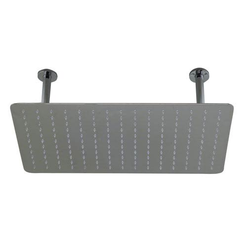 20-inch Rectangular Polished Solid Stainless Steel Ultra Thin Rain Shower Head